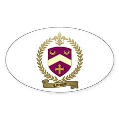 CLERMONT Family Crest Oval Decal