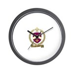 CLERMONT Family Crest Wall Clock