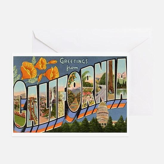 California CA Greeting Cards (Pk of 10)