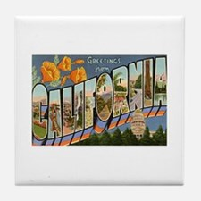 California CA Tile Coaster