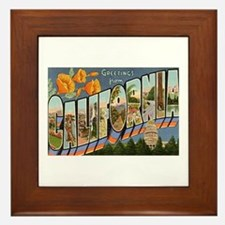 California CA Framed Tile