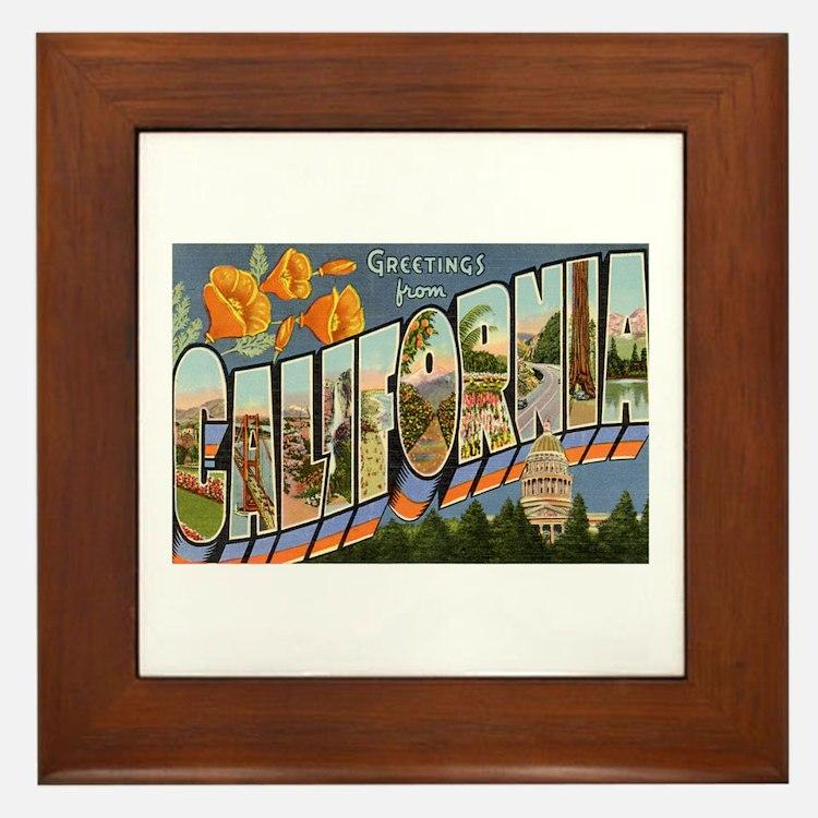 California CA Framed Tile