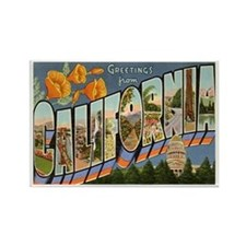 California CA Rectangle Magnet
