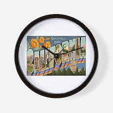 California CA Wall Clock