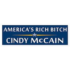 America's Rich Bitch Bumper Bumper Sticker