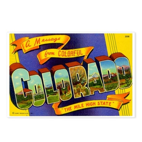 Colorado CO Postcards (Package of 8)