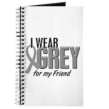 I Wear Grey For My Friend 10 Journal