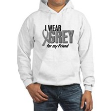 I Wear Grey For My Friend 10 Hoodie