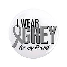 "I Wear Grey For My Friend 10 3.5"" Button"