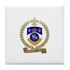 COCHON Family Crest Tile Coaster