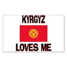 Kyrgyz Loves Me Rectangle Decal
