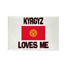 Kyrgyz Loves Me Rectangle Magnet
