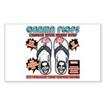 Obama flip flops Rectangle Sticker 10 pk)