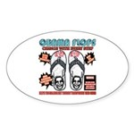 Obama flip flops Oval Sticker (50 pk)