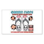 Obama flip flops Rectangle Sticker