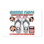 Obama flip flops Postcards (Package of 8)
