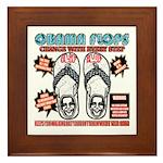Obama flip flops Framed Tile