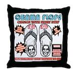Obama flip flops Throw Pillow