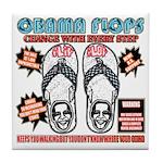 Obama flip flops Tile Coaster