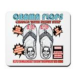 Obama flip flops Mousepad