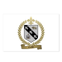 COCHU Family Crest Postcards (Package of 8)