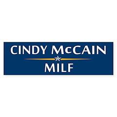 Cindy McCain MILF Bumper Bumper Sticker