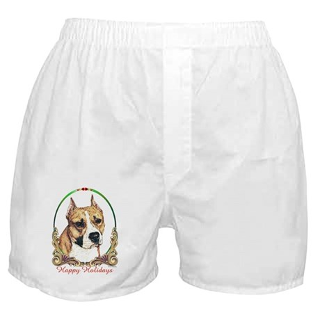 American Staffordshire Holiday Boxer Shorts