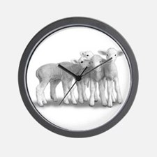 Wall Clock~Whisper Lambs
