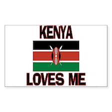 Kenya Loves Me Rectangle Decal