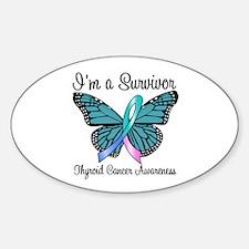 Thyroid Cancer Survivor Oval Sticker (10 pk)