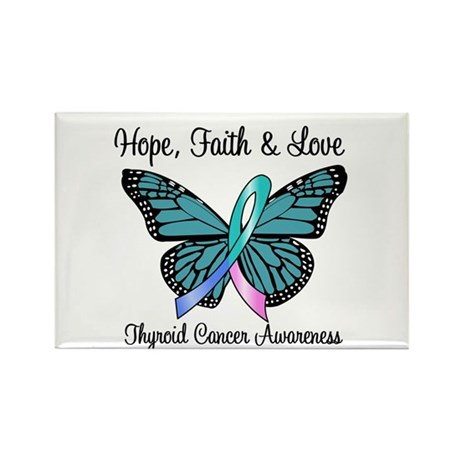 Thyroid Cancer Hope Rectangle Magnet (10 pack)