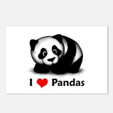 I Love Pandas Postcards (Package of 8)
