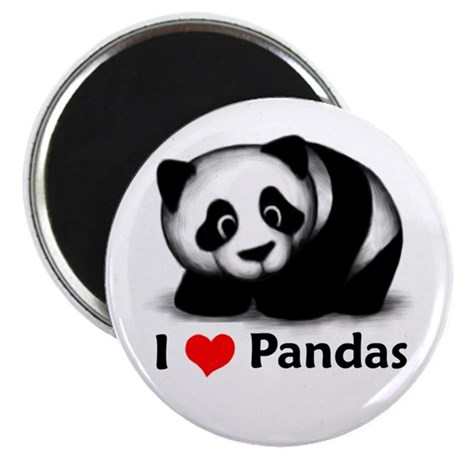 I Love Pandas Magnet