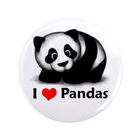 "I Love Pandas 3.5"" Button"