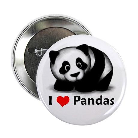 "I Love Pandas 2.25"" Button (10 pack)"