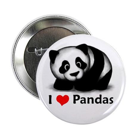 "I Love Pandas 2.25"" Button"