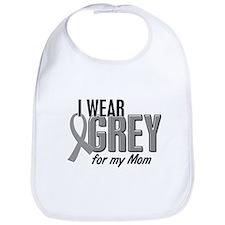 I Wear Grey For My Mom 10 Bib