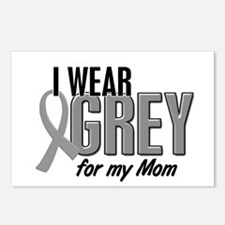 I Wear Grey For My Mom 10 Postcards (Package of 8)