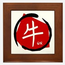 Year Of The Ox Framed Tile