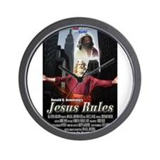 Jesus Rules Wall Clock