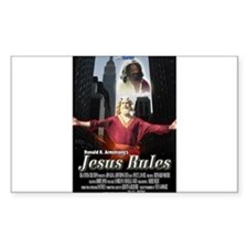 Jesus Rules Rectangle Decal