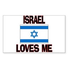 Israel Loves Me Rectangle Decal