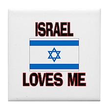 Israel Loves Me Tile Coaster