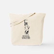 Writers Unite! (Black) Tote Bag