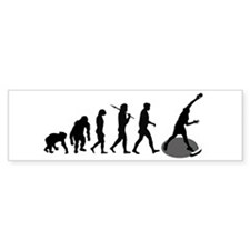 Shot Putting Evolution Bumper Bumper Sticker
