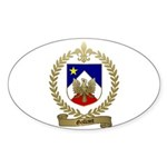 GALLANT Family Crest Oval Sticker