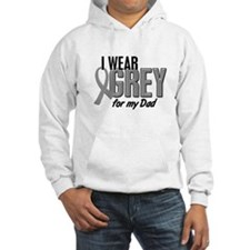 I Wear Grey For My Dad 10 Hoodie