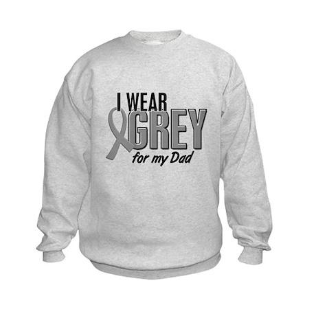I Wear Grey For My Dad 10 Kids Sweatshirt