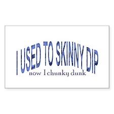 Skinny Dip Rectangle Decal