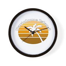 Bartolome Island, Ecuador Wall Clock